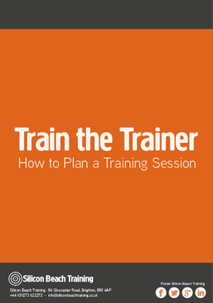 Train the Trainer: Planning a Training Session
