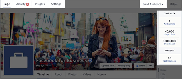 Facebook New Page Layout