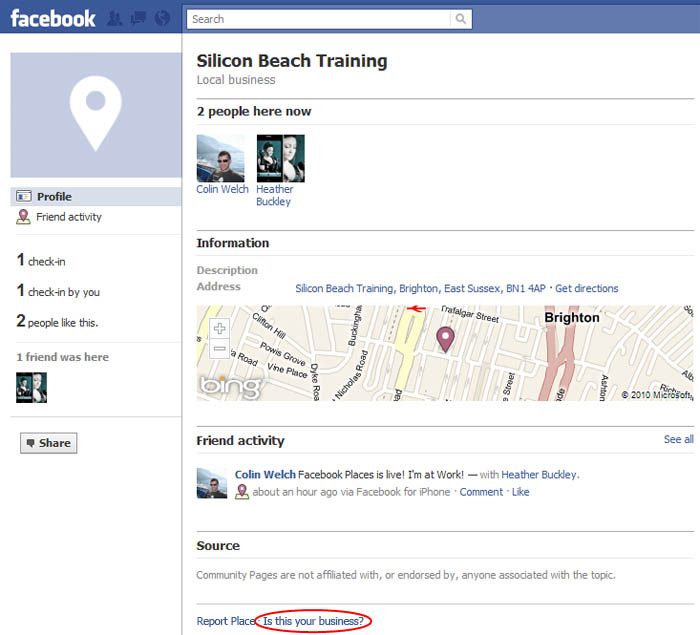 Claim Place Facebook