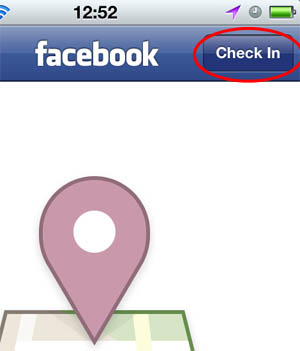 facebook places check in