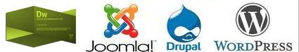 Using Dreamweaver CS5 with Joomla, Wordpress and Drupal