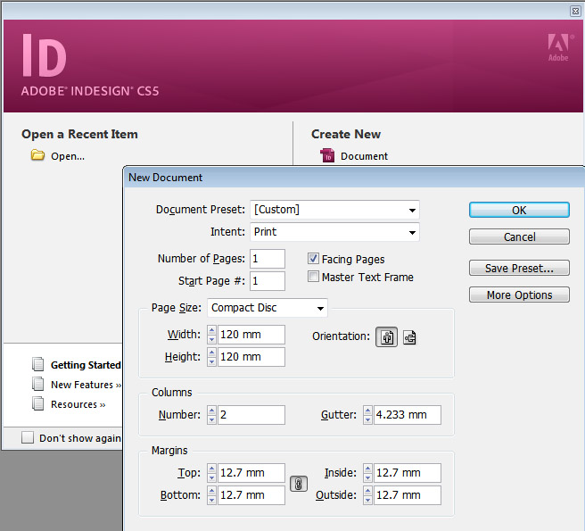 how to open illustrator file in indesign cs5