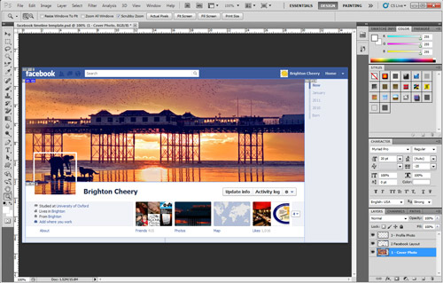 Facebook Timeline Cover Photo Photoshop Template
