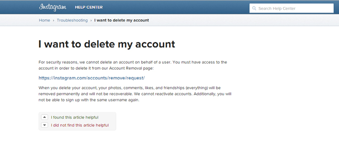 How to delete your instagram account from your phone aventail how do i link my instagram account to a page that i manage ccuart Image collections