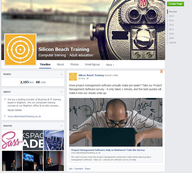 New Facebook Business Page Visitor
