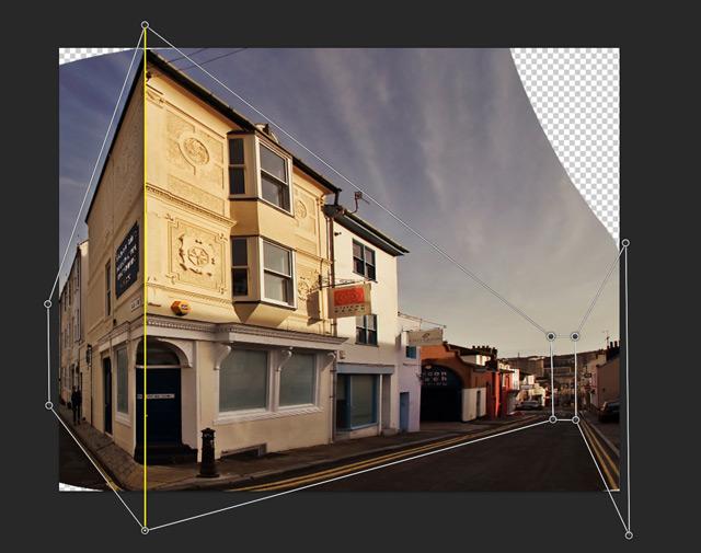 Photoshop Perspective Warp Skew Left