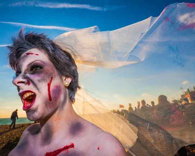 Deathly Bride On Beach