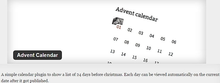 Advent Calendar Plugin