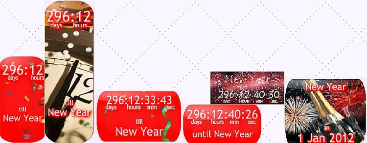 Countdown Clock for New Years Day