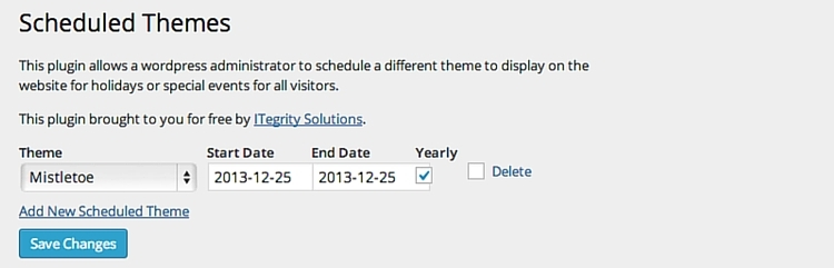 WP Scheduled Themes