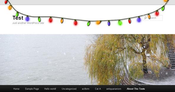 Christmas lights plugin