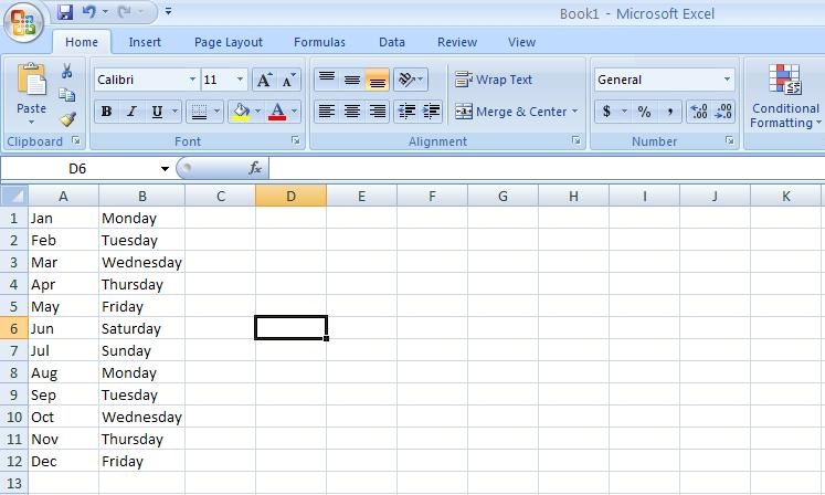 Excel Auto Fill Example