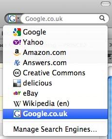 how to change safari default search engine to google uk