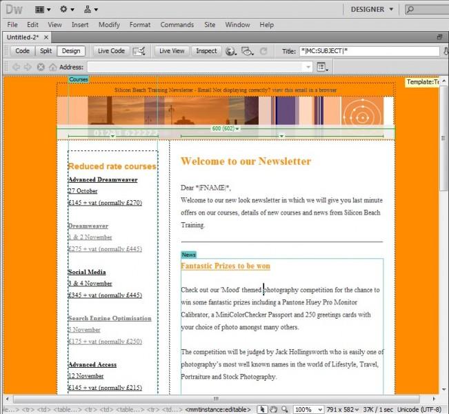 email marketing using dreamweaver