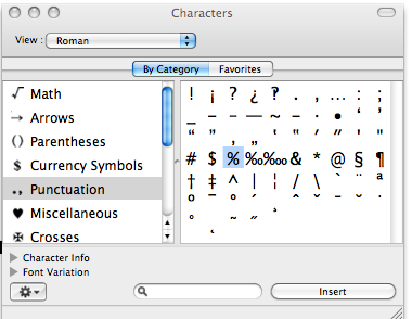 Finding special symbols on your Mac the easy way