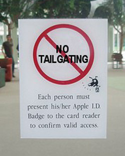 No Tailgating at Apple