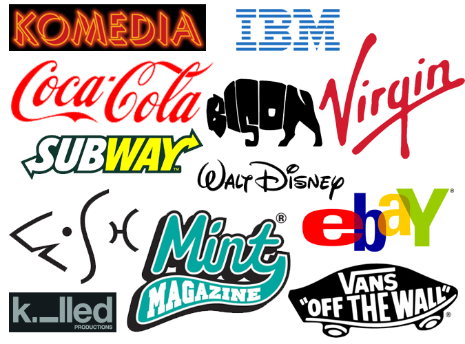 text based business logos
