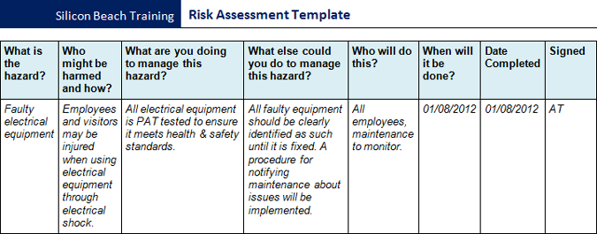 Beautiful Download Risk Assessment Template