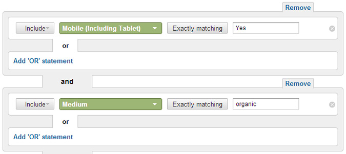 mobile-search-google-analytics-filter