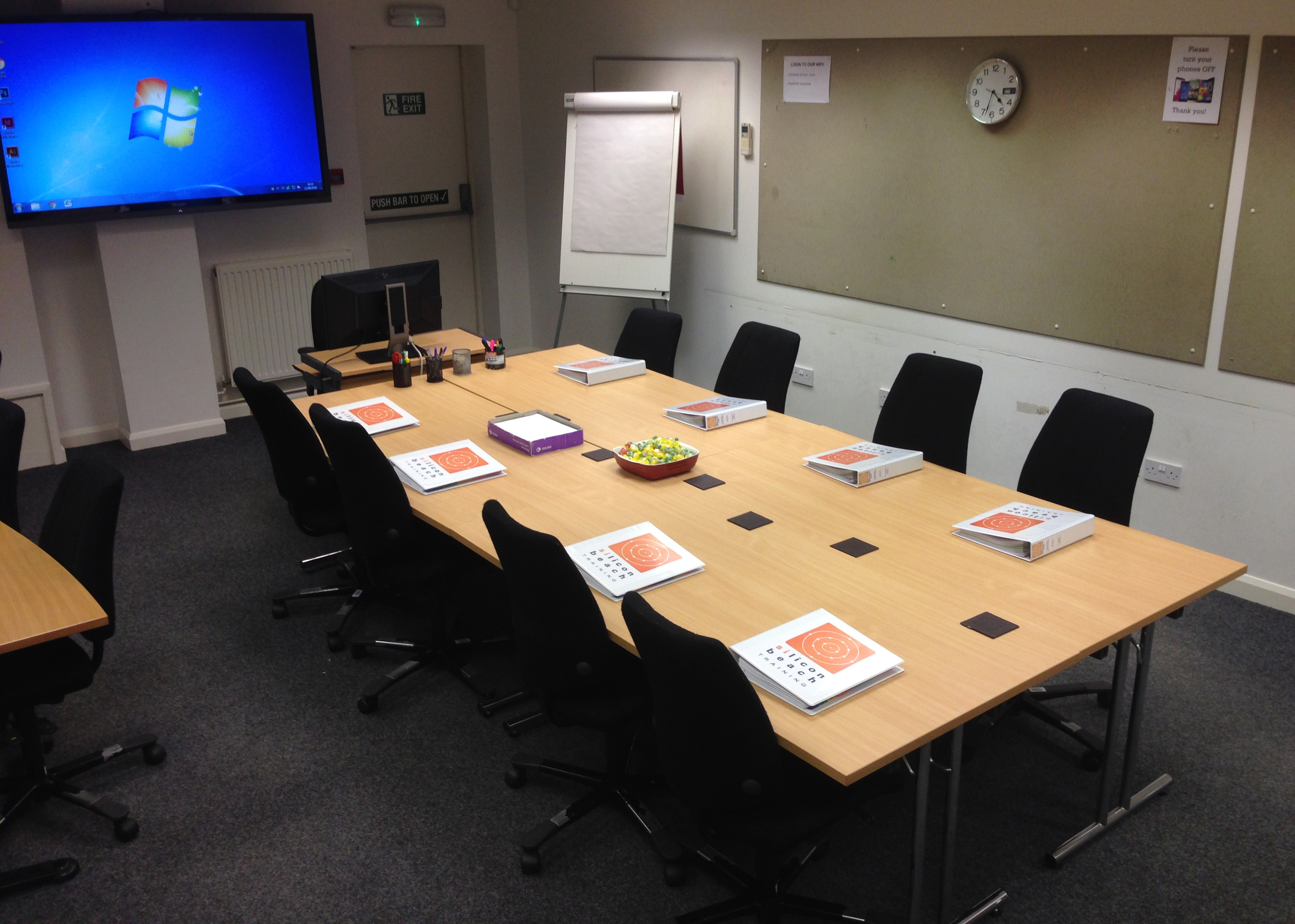 Training room showing it in conference/ boardroom layout